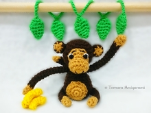 Crochet pattern Little monkey! PDF Ternura Amigurumi English - Deutch- Dutch