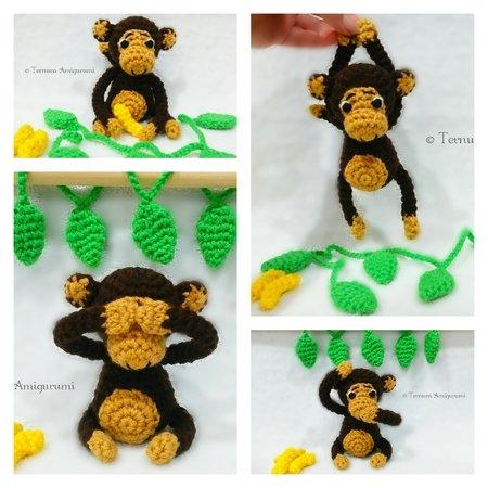 Crocheted monkey, Amigurumi monkey, Crochet monkey, Amigudumi doll ... | 450x450