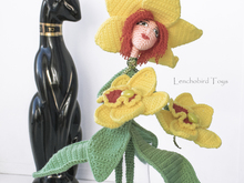 Amigurumi pattern for the Orchid flower Art doll