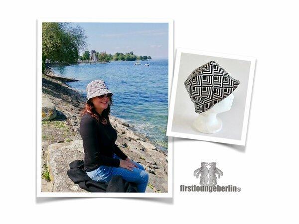 AIMICONG Sommerhut Slipknot Bucket Hats Letter Fischerhut M/änner Und Frauen Hysteresenbecken Kappen Falthut