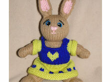 Rose the little bunny, PDF knitting pattern