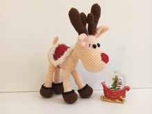 Pattern Christmas Deer Rudolph