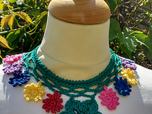 Crochet Flower Necklace pattern
