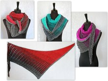 Crochet pattern shawl // triangular shawl // bandana Arien