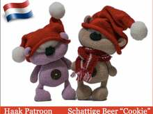 139NLY Haak Patroon - Schattige Beer Cookie - Amigurumi soft toy PDF file by Pertseva CP