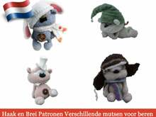 140NLY Brei en Haak Patroon - Mutsenvoor beer Cookie - Amigurumi soft toy PDF file by Pertseva  CP