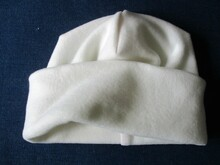 roll up cuff fleece beanie sewing pattern, 5 sizes