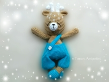 Häkelanleitung Hirsch 40cm! PDF Ternura Amigurumi English - Deutsch - Dutch