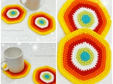 FREE crochet pattern coasters PDF Ternura Amigurumi English- Deutsch- Dutch