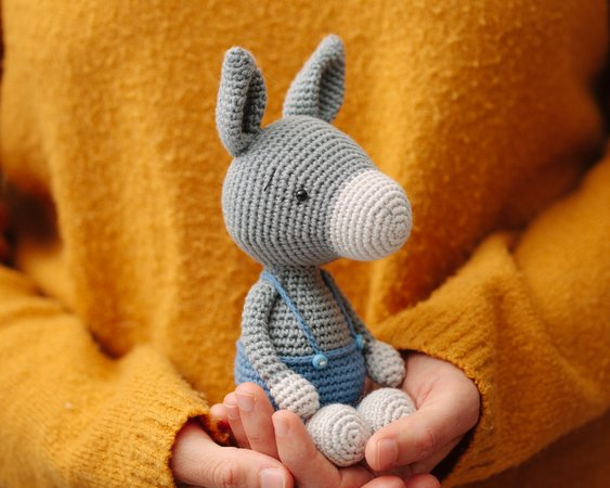 Donkey amigurumi crochet pattern : PlanetJune Shop, cute and ... | 450x563