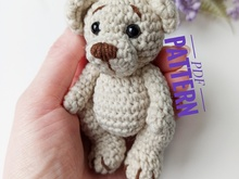 Crochet bear pattern, Amigurumi mini teddy bear pattern, Classic stuffed bear figurine