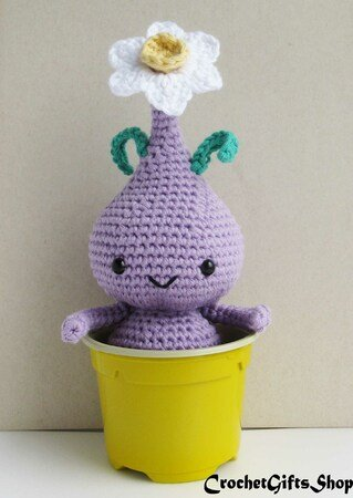 Crochet Spring Flower Bulb Doll Amigurumi Free Patterns | 450x319
