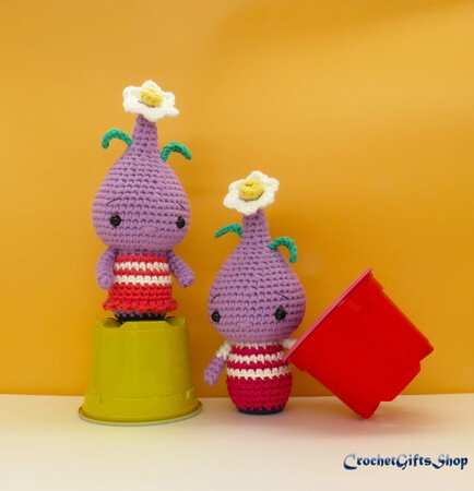 Crochet Flower Bulb Doll Amigurumi Free Patterns | 450x434