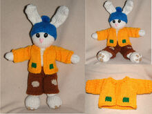 Fred the sweet bunny - knitting pattern