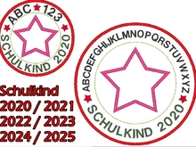 Stickdatei Schulkind 2020 2021 2022 2023 2024 2025