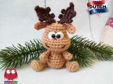 228NLY Haakpatroon - Alfred het eland - Amigurumi PDF file by Knittoy CP