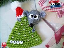225NLY Haak patroon - Muis op een kerstboom - PDF file by Knittoy CP