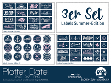 """Labels summer-edition"" (3ER-SET)"