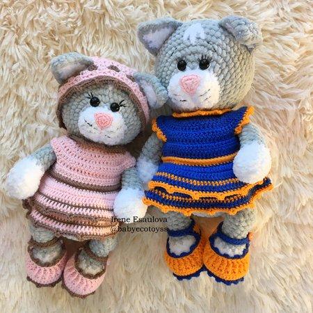 PATTERN BUNDLE: Crochet Kitty Cat Patterns 4 Amigurumi Cat   Etsy   450x450