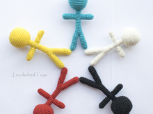 Amigurumi pattern for Voodoo doll and crochet toy base