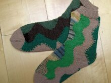 "Strickanleitung Socken ""Swinging Green"""