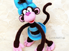 Amigurumi pattern for the crochet Coco the Monkey