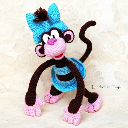 188 Crochet Pattern - Girl Doll in a Viking Monkey outfit ... | 450x450