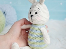 Crochet pattern Striped bunny amigurumi