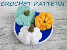 Patty pan squash Crochet Pattern