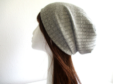 double layer slouchy jersey beanie pattern