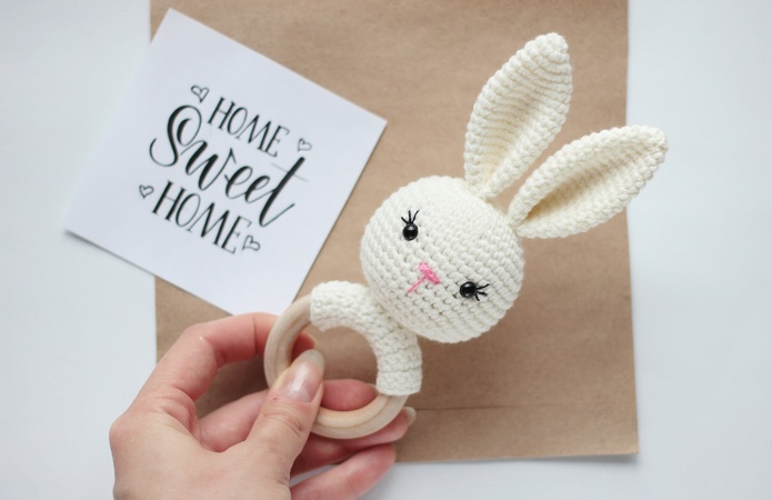 griffin crochet baby toys bunny Baby rattles baby rattle bunny