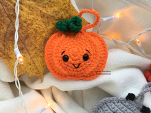 crochet pattern Flat Halloween Pumpkin ornament