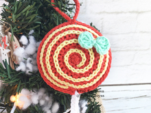 crochet pattern Christmas ornament Berry lollipop for Christmas tree