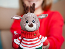 Crochet Amigurumi Pattern Christmas Reindeer Harry