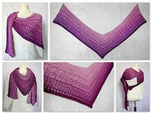 "Crochet pattern scarf // v-shaped scarf // triangle shawl ""Vinkel"""
