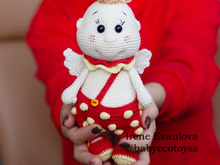 Amigurumi pattern Crochet angel Strawberry cupid