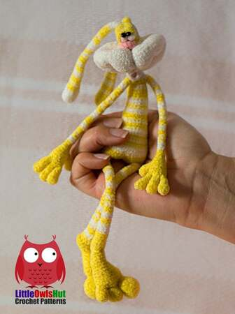 254 Crochet Pattern - Rabbit Dude Small and Sailor version (2 sizes of rabbits) - Amigurumi soft toy PDF file by Pertseva CP