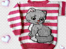 Knitting Tutorial Pullover Cat in 2Sizes