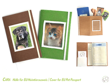 CARA Cover for EU Pet Passport sewing pattern