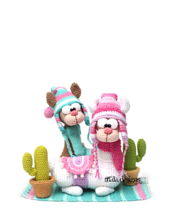 little Llamas with cactus