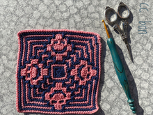 Crochet Pattern Mosaic Square cc-Smile
