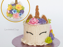Crochet pattern for the Flower Unicorn Cake