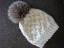 Pattern Winter Cable Knit Hat