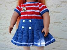 Dolls Dress Knitting Pattern
