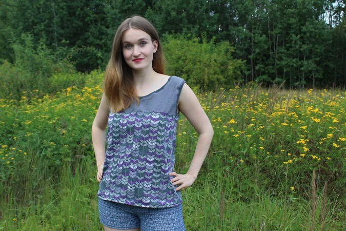 Anleitung ADD-ON Jessys Basic T-Shirt und Top goes Kleid