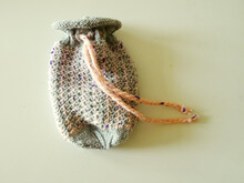 "Gift bag knitting pattern ""With Love"""