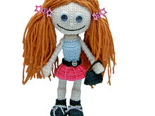 Gill Girlie crochet pattern, pdf tutorial, amigurumi girl by Katja Heinlein doll file girl dolly maid ebook human people