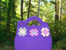 Pattern Granny Square Clutch Bag - PA-230