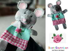 Baby Comforter Mouse- Knitting pattern