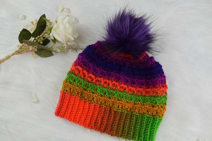 Crochet hat pattern-4 sizes- adult/teen,toddler,child,large adult